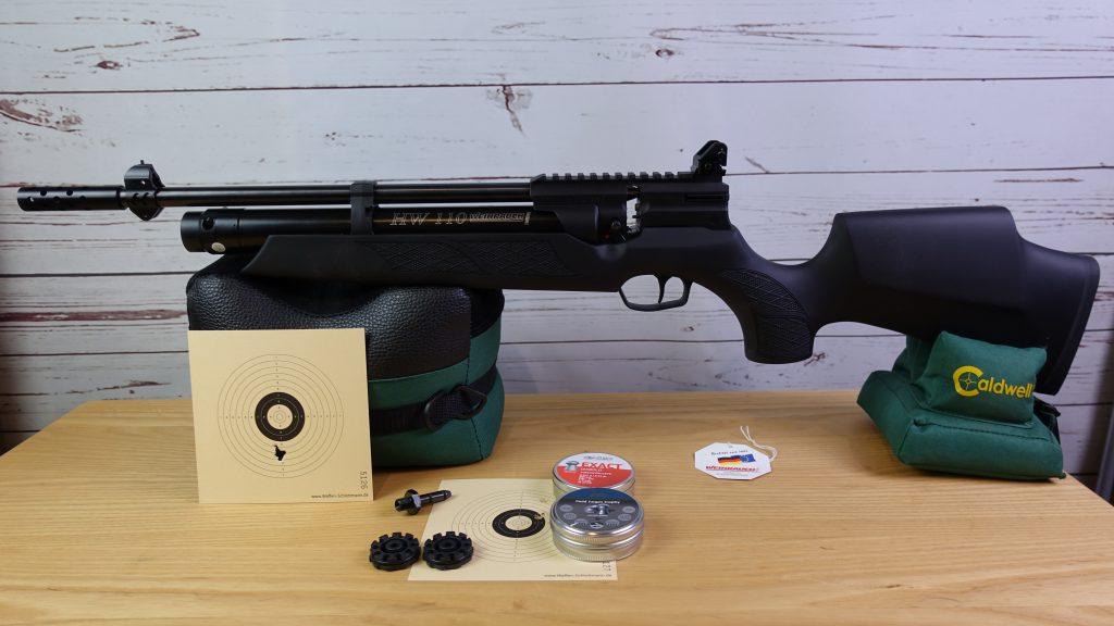 Weihrauch HW110 Carbine mit Magazinen Diabolos Schussbilder