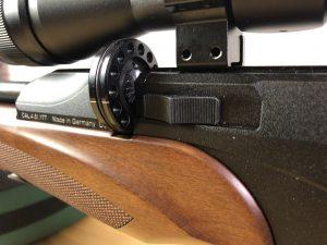 Diana P1000 Evo 2 14 Schuss Magazin eingelegt