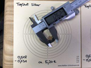 TopShot silber Streukreis geschossen