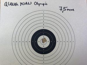 Streukreis geschossen mit Qiang Yuan Diabolos