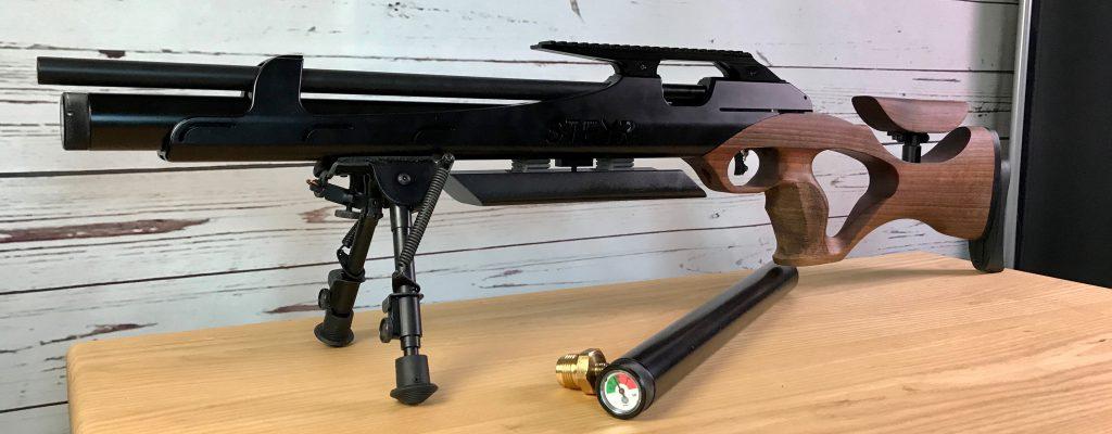 Steyr LG110 HFT Hunting mit Harris Zweibein und zweiter Kartusche