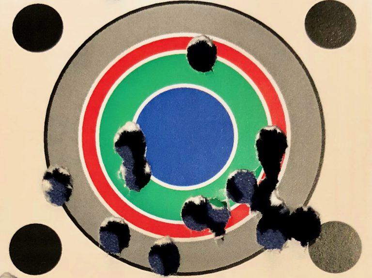 Beschossene Zielscheibe