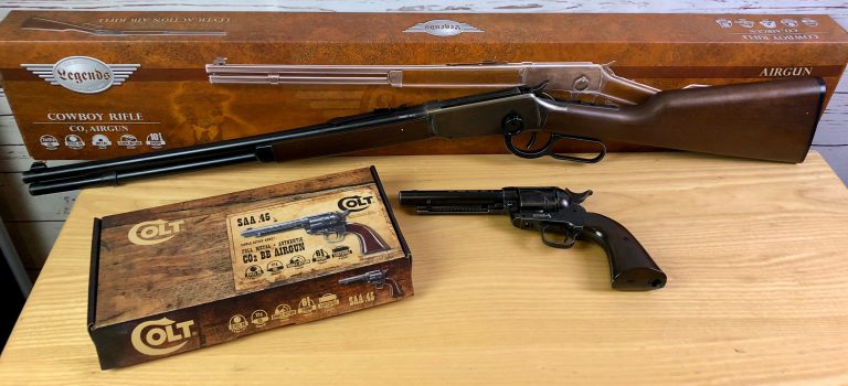 Umarex Legends Cowboy Rifle und Umarex Colt Peacemaker Single Action Army 5,5""