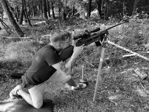 Thomas beim Hunter Field Target