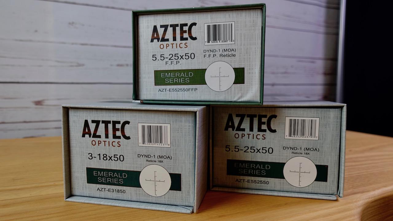 Aztec Optics Emerald 5,5-25x50 Zielfernrohr SFP und FFP