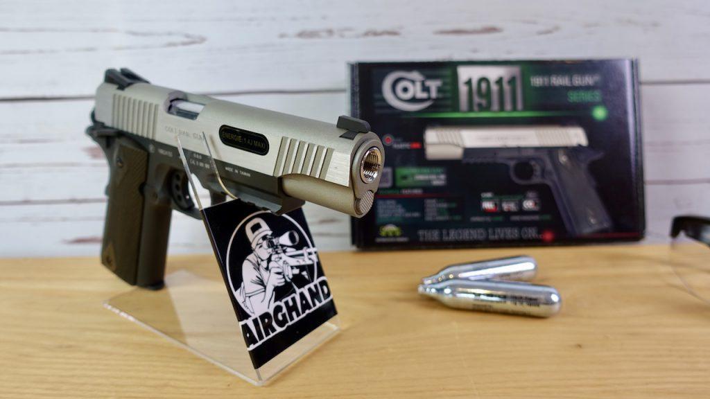 Colt 1911 Railgun WileyX Schießbrille Verpackung Colt 1911