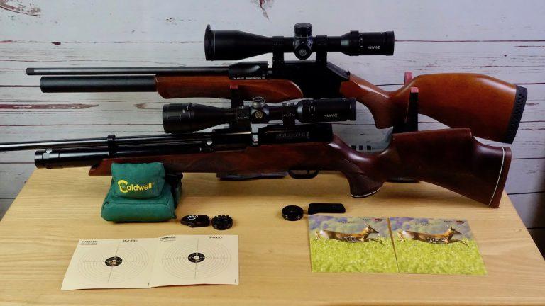 Diana P1000 Evo2 mit Hawke Frontier 3-15x50 FFP und Weihrauch HW100 mit Schussergebnissen und Magazinen