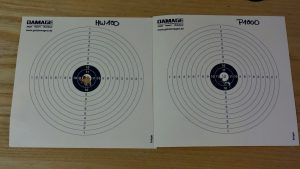 14x14 Zielscheiben aus 20m beschossen mit Weihrauch HW100 und Diana P1000 Evo2