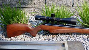 Diana 350 N-TEC Magnum Premium hinterer Teil Hawke Airmax 6-24x50 Compact Zielfernrohr T06 Abzug
