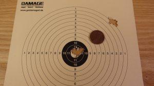 Diana Outlaw Schussergebnis JSB Exact 4,53mm und H&N FTT 4,51 mm