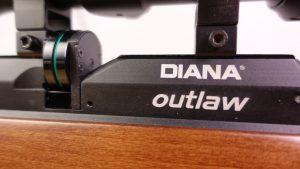 Diana Outlaw Trommelmagazin und Logo