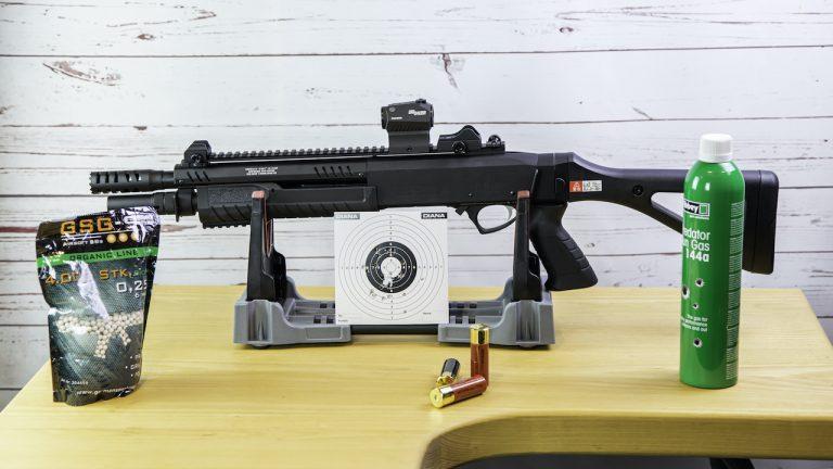 Fabarm STF12 Compact Airsoft Pumpgun Komplett mit Zubehör