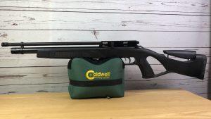 Gamo Coyote Luftgewehr auf Caldwell Cadcu Gewehrunterlage