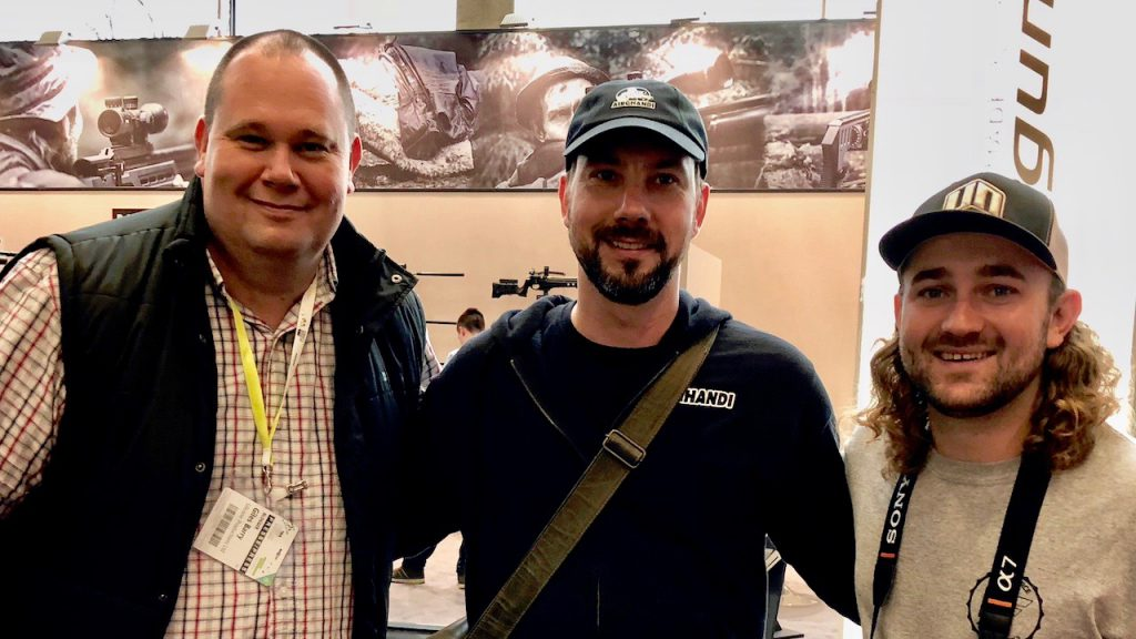 Giles Barry AirGhandi Matt Dubber auf der IWA 2018 in Nürnberg
