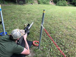 AirGhandi beim Liegend schießen beim Hunter Field Target