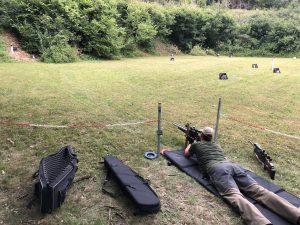 AirGhandi beim liegend schießen im Hunter Field Target