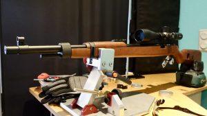 Mauser K98 PCP auf Dobrindt Einschießbock auf Schießtisch bei AirGhandi