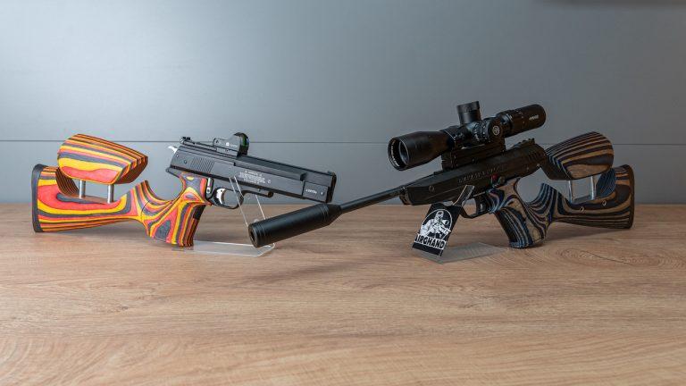 Pistolen Karabiner Weihrauch HW45 Diana LP8 von vorne