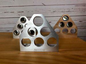 Schießspiel mit Kronkorken Aluminium Holz AirGhandi