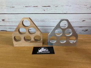 Schießspiel Kronkorken Holz Aluminium vorne AirGhandi