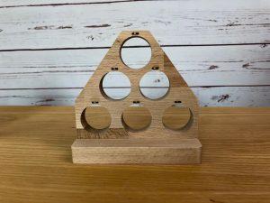 Schießspiel Kronkorken leer Holz hinten