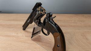 Schofield No. 3 6 Co2 Revolver aufgekippt