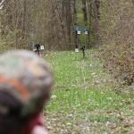 AirGhandi beim beschießen einer Field Target Silhouette mit der Diana P1000 Evo 2