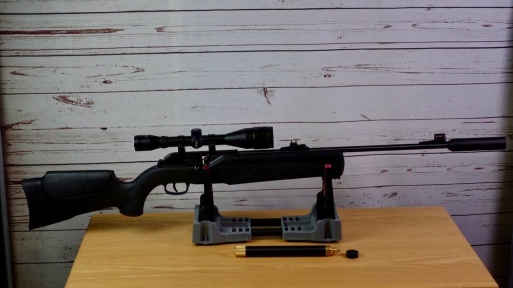 Umarex 850 M2 seitliche Aufnahme inklusive Walther 6x42 Zielfernrohr