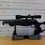 Walther Rotex RM8 Varmint mit Hawke Panorama 4-12x40 Zielfernrohr aufgelegt auf einer Tipton Unterlage