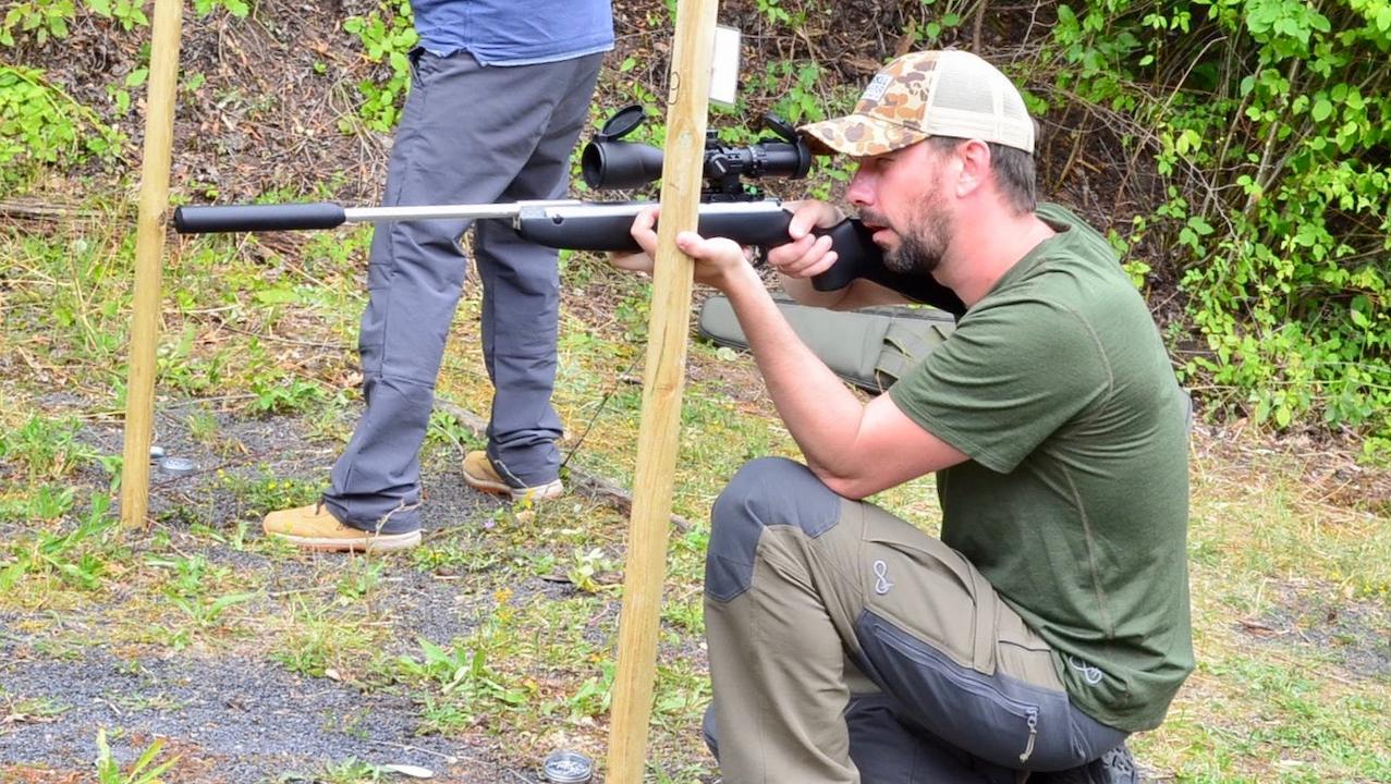 AirGhandi mit Weihrauch HW30S beim HFT schießen