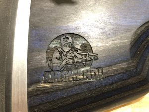 LP Gunstocks Schaft mit AirGhandi Logo eingelasert