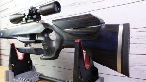 Weihrauch HW77K Waffen Schlottmann vernickelt Hawke Panorama 4-12x40 Zielfernrohr Schaft blau silber grau LP Gunstocks