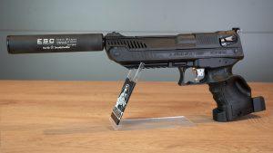 Zoraki HP-01 mit Schalldämpfer
